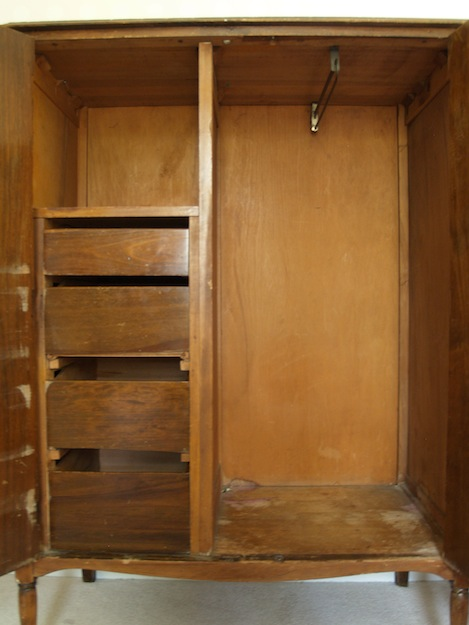 antique wardrobe before