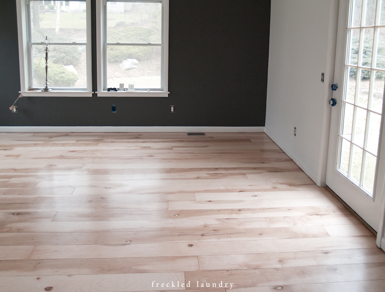 Finished Plywood Flooring ~ Maple plywood planked floor process