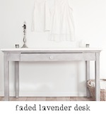faded lavender desk antique chalk paint finish freckled laundry