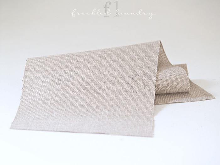 freckled laundry linen burlap substitute