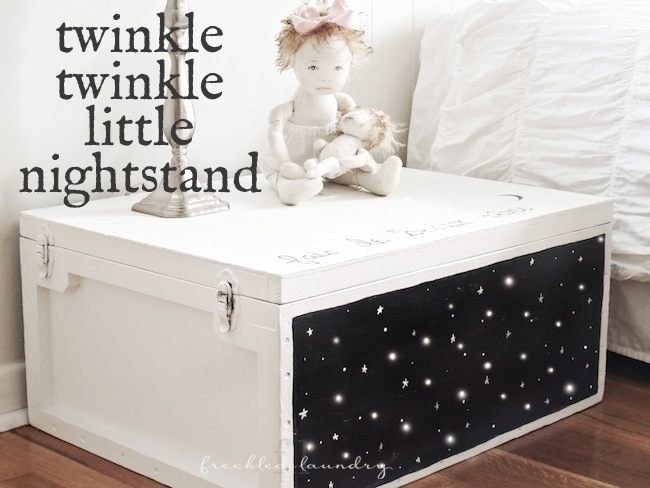 freckled laundry twinkle nightstand makeover